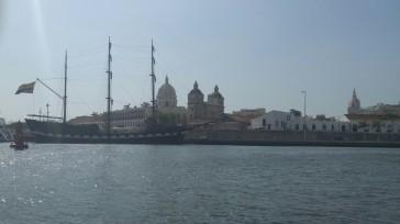 Vista del Puerto de Cartagena de Indias.