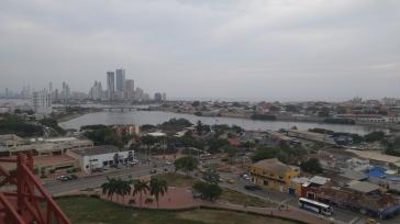 Vista de Cartagena de Indias desde el Castillo de San Felipe.