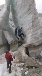Aclimatación y entrenamiento cerca del Campamento Base.