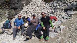 Subida al Campamento Alto con Ireneo y Corey.
