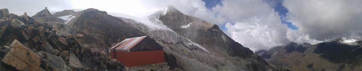 Campamento alto del Huayna Potosí.