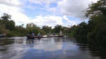 Navegando por el Yacuma.