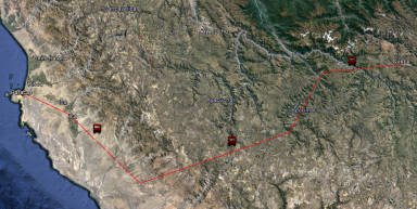Ruta desde Cuzco a Paracas.