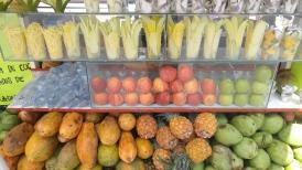 Puestos de frutas.