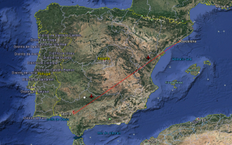 Ruta desde Sevilla a Barcelona.