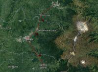 Ruta desde Manizales a Salento.