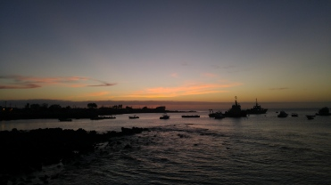 Atardecer en Puerto Baquerizo Moreno.