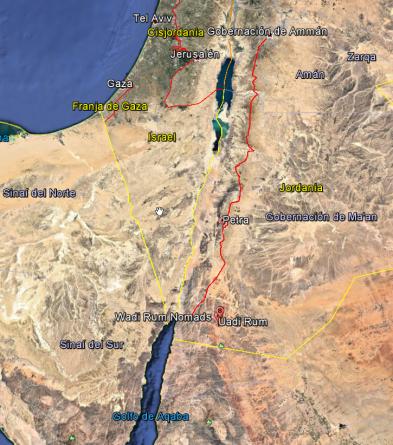 Ruta desde Ammán a Aqaba.