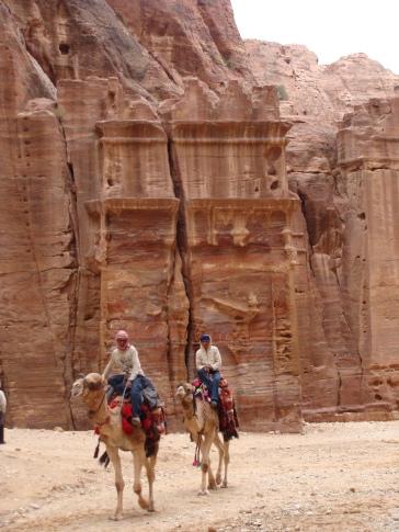 Beduinos en Petra.