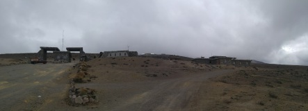Entrada a la reserva del Chimborazo.