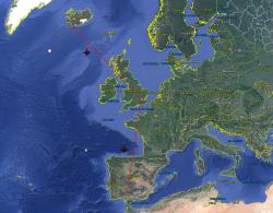 Ruta en Avión Sevilla-Londres-Reikiavik