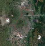 Ruta de Riobamba a baños.