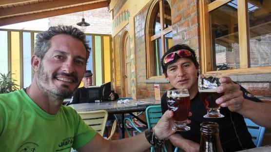 Cerveza con Marco.