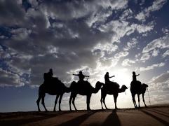 sombras en el desierto.